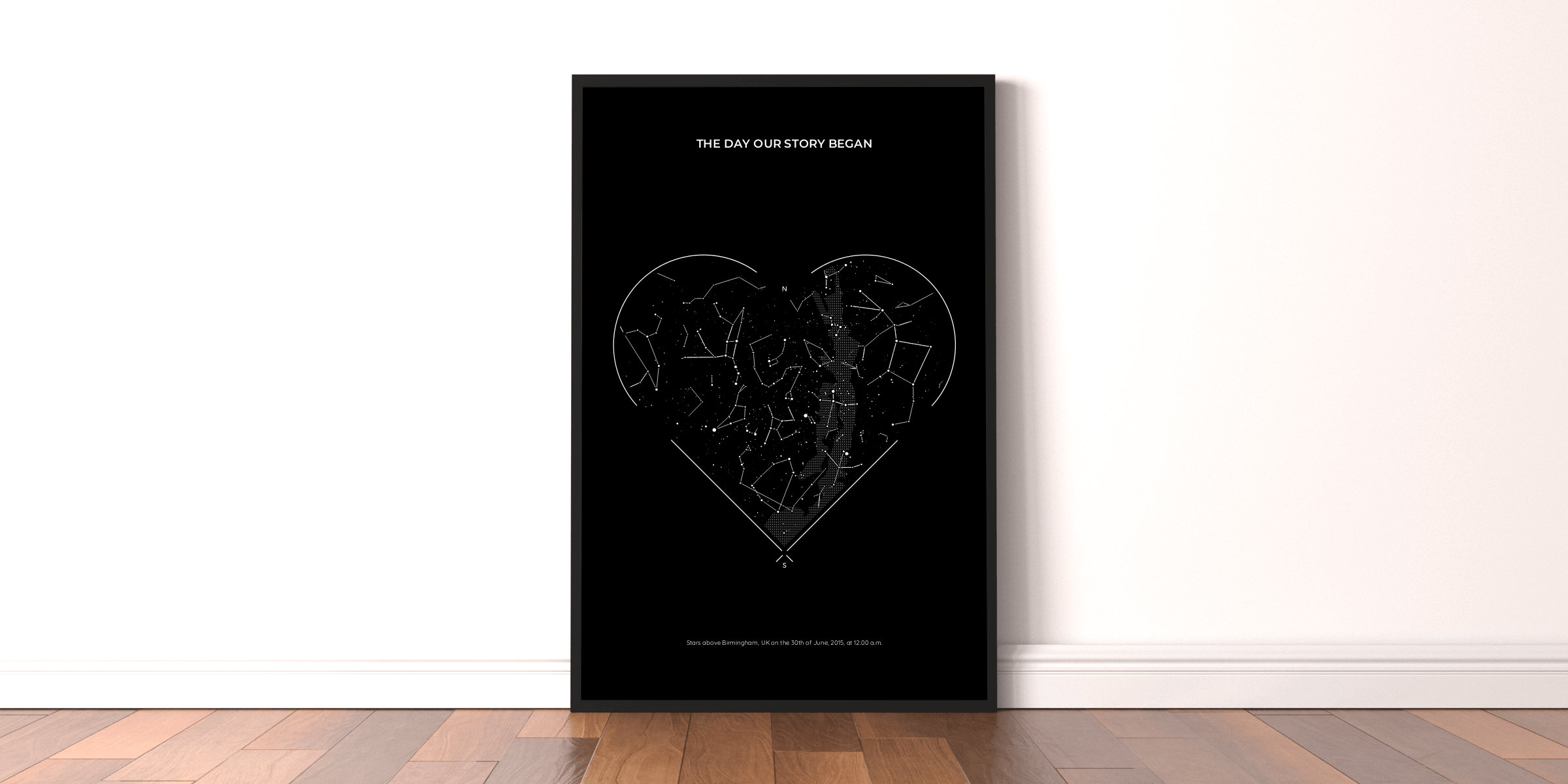 Valentine's Day star map