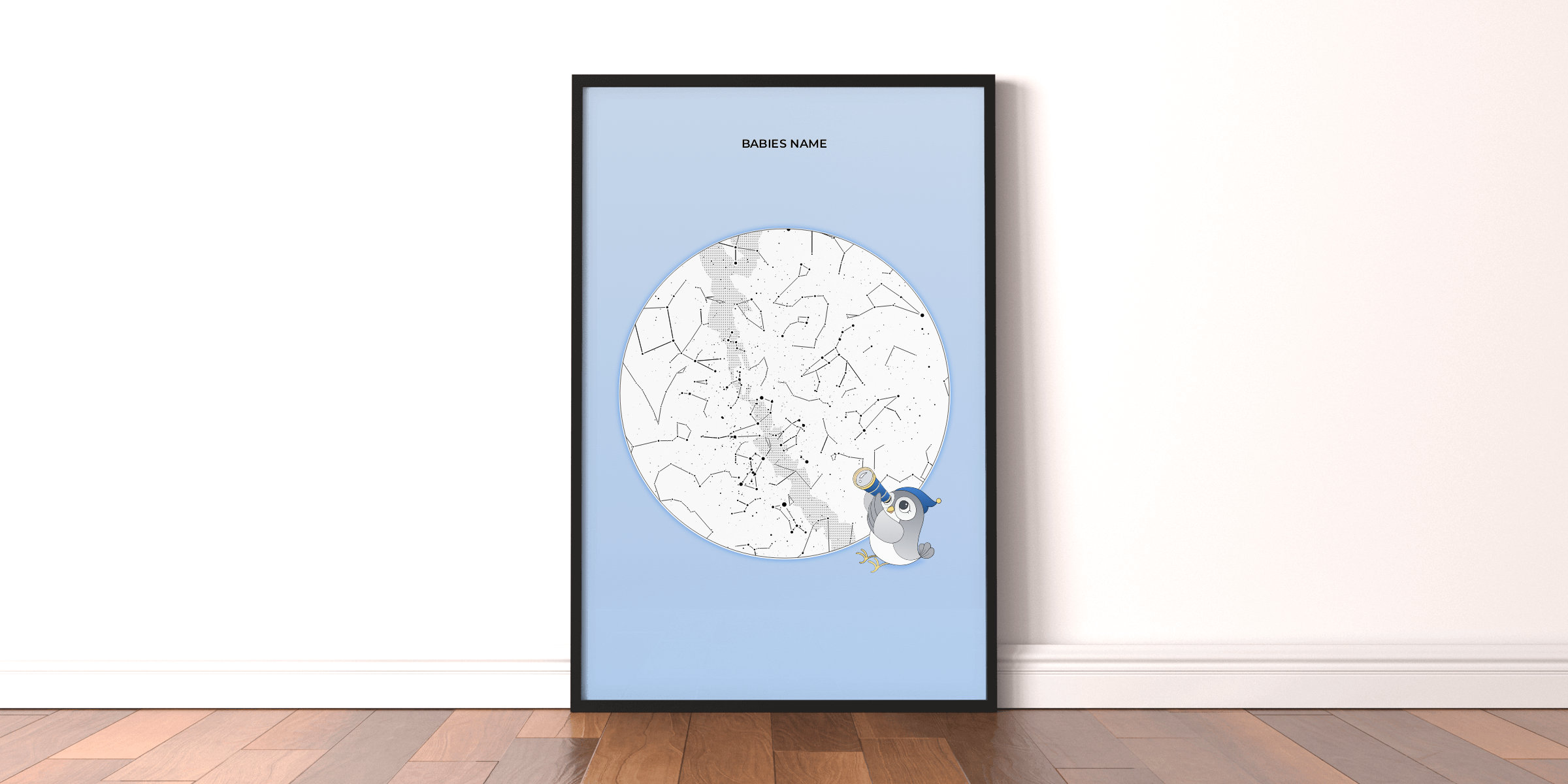 A new star map design for your newest family member