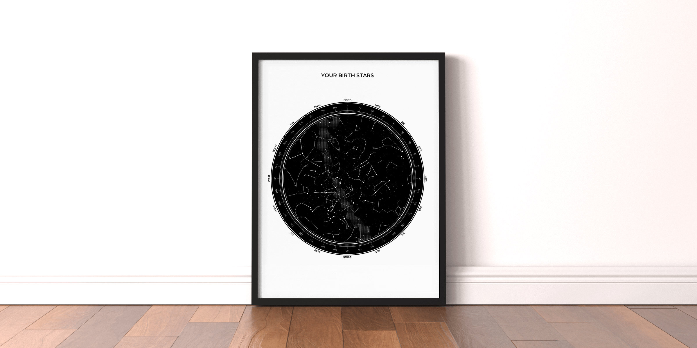 Possibly the best baby shower gift - a star map poster
